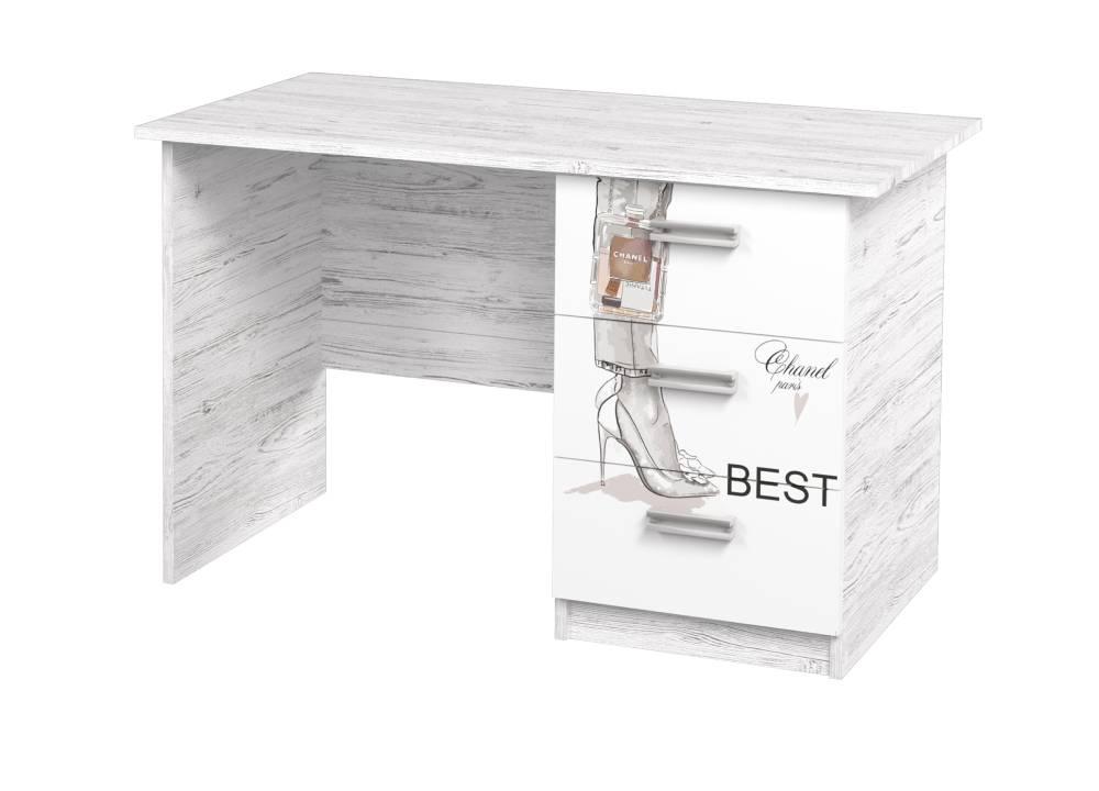 письменный стол с 3 ящиками vogue аляска с рисунком