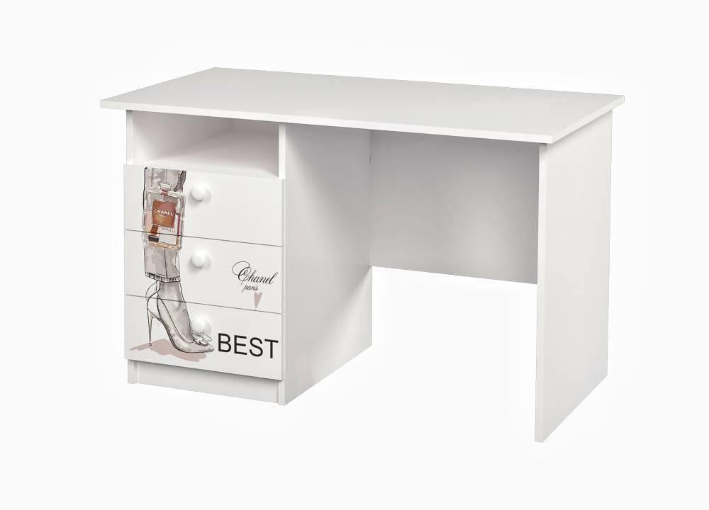 письменный стол с 3 ящиками vogue белый