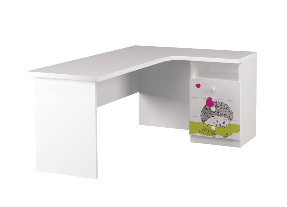 угловой стол детский с 3 ящиками совушки