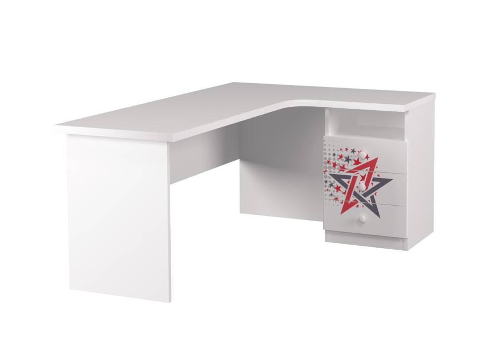 угловой стол детский с 3 ящиками гонщик