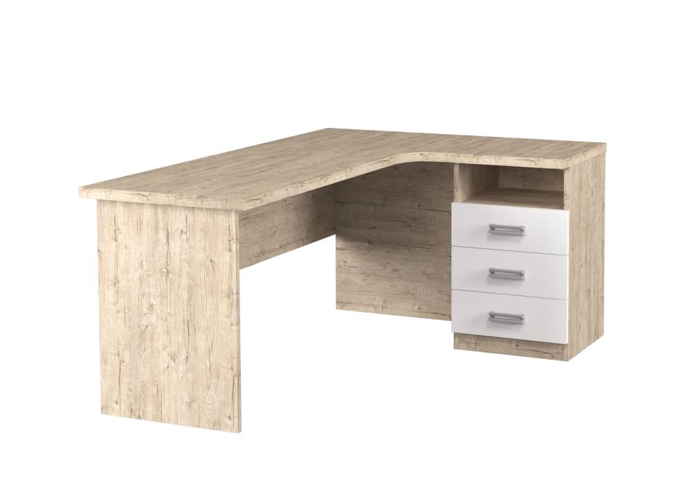 угловой стол тревел с 3 ящиками шервуд