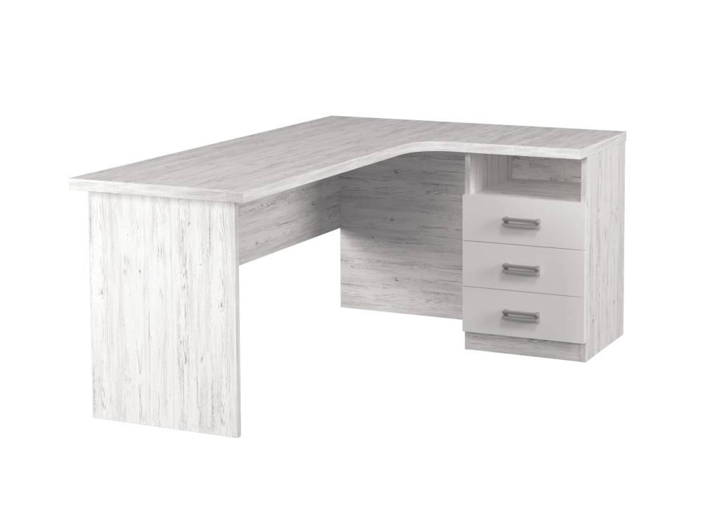 угловой стол тревел с 3 ящиками аляска