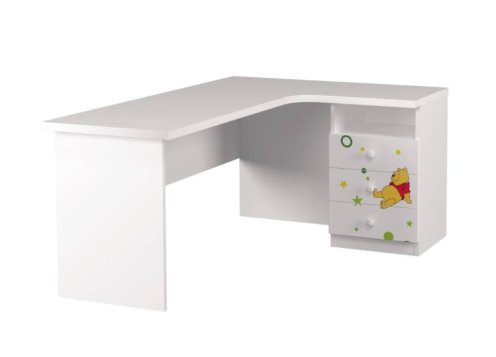 угловой стол детский с 3 ящиками винни