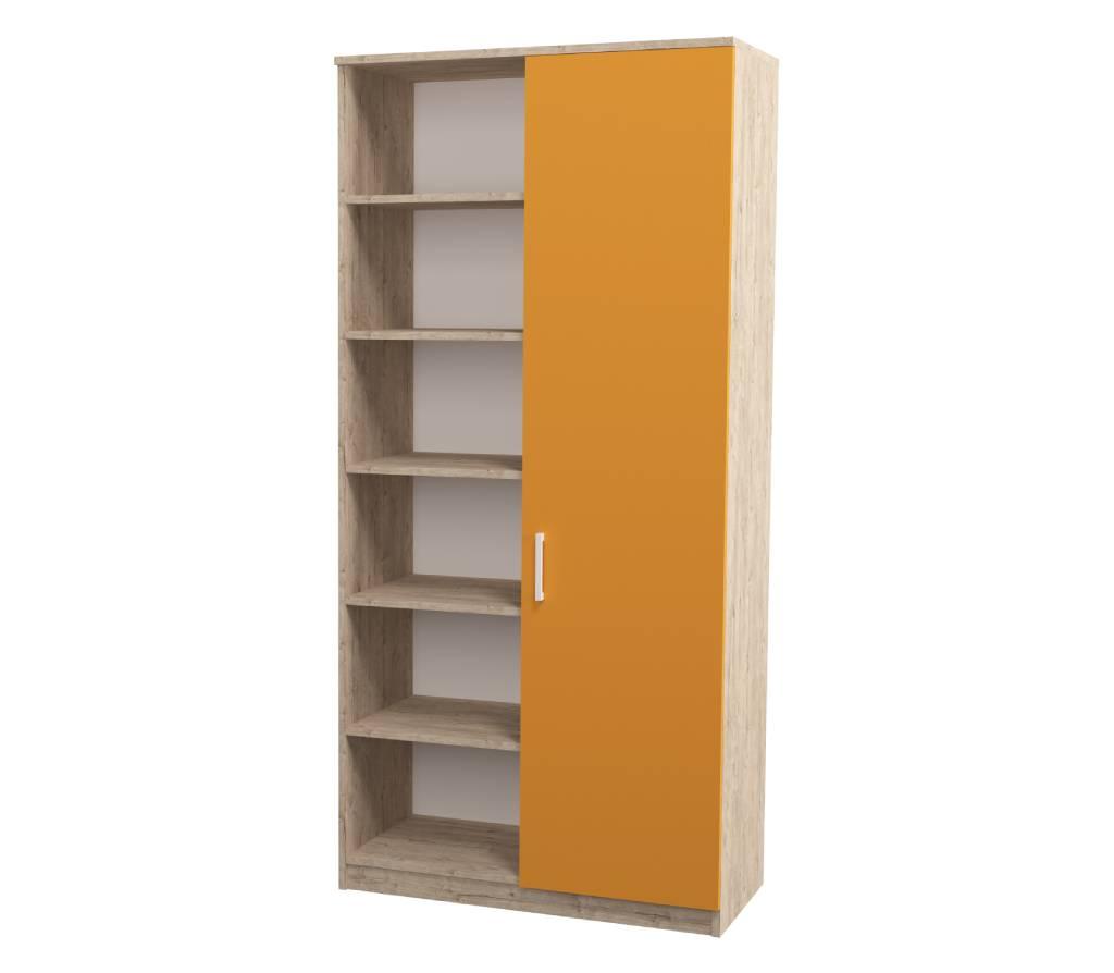 детский шкаф teenstyle шервуд с 1 дверкой оранжевый