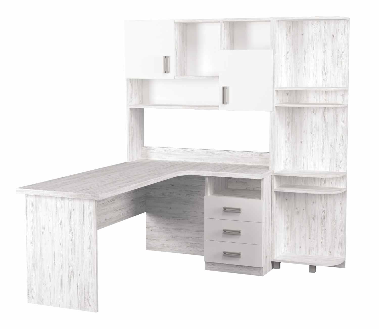 угловой стол с надстройкой и эркером аляска