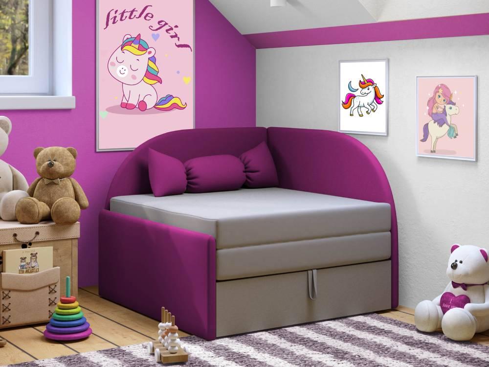 детский диванчик малютка фиолетовый
