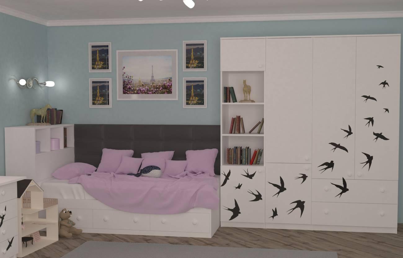 подростковая комната ласточки для девочки
