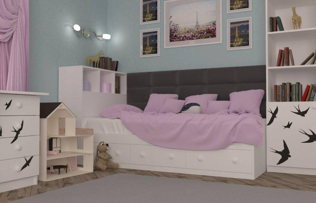подростковая кровать ласточки
